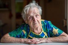 Portrait of an elderly woman. Grandma. Stock Photos