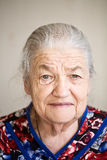 Portrait of elderly woman Royalty Free Stock Image