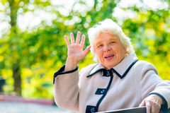 Portrait of an elderly woman with gray hair Royalty Free Stock Photo