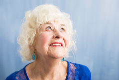 Portrait of  elderly woman Stock Photography