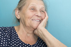 Portrait of the elderly woman. Stock Photo