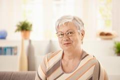 Portrait of elderly woman stock photography