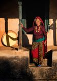 Elderly woman, Nepal Stock Photos