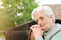Portrait of the elderly woman Royalty Free Stock Photo