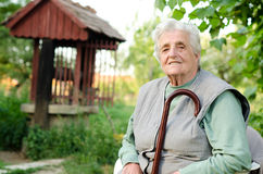 Portrait of the elderly woman Stock Photo