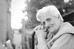 Portrait of the elderly woman royalty free stock images