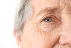 Portrait of elderly woman, stock photo