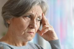 Portrait of a elderly woman Royalty Free Stock Photography