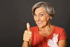 Portrait of elderly woman Royalty Free Stock Photography