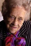 Portrait of an elderly women Stock Images
