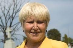 Portrait of eldery woman Stock Image