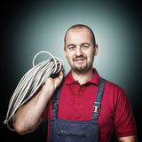 Portrait of electrician Stock Photos