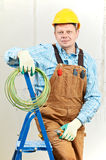 Portrait of Electrician with wire equipment royalty free stock photos
