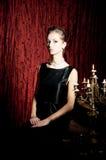 Portrait of elegance attractive woman, retro style. Portrait of elegance attractive woman Royalty Free Stock Image