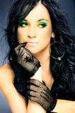 Portrait of elegance beauty woman flirty look Stock Images