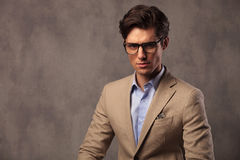 Portrait of an elegant business man wearing glasses Stock Image