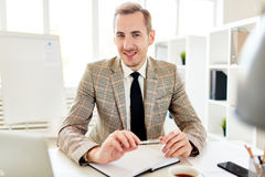 Portrait of Elegant Entrepreneur at Work Stock Images