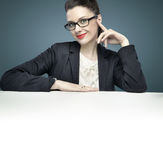 Portrait of an elegant female manager Royalty Free Stock Images