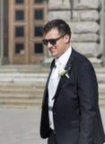 Portrait of elegant groom outdoor Stock Photo