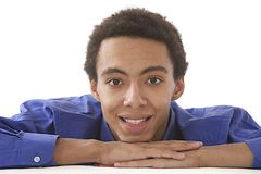 Portrait of Elegant handsome mulatto Stock Photos