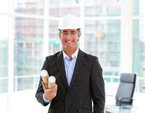 Portrait of an elegant male architect Stock Photo