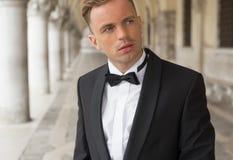 Portrait of elegant man in tuxedo Royalty Free Stock Image