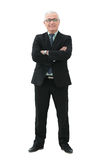 Portrait of a elegant  mature business man on white background Royalty Free Stock Photography