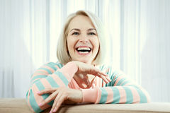 Portrait of elegant middle aged woman Royalty Free Stock Images