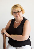 Portrait of elegant senior lady Stock Photos