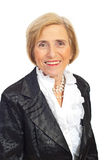 Portrait of elegant senior woman Stock Image