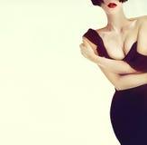 Portrait elegant sexy lady Stock Photography