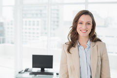 Portrait of an elegant smiling businesswoman in office Royalty Free Stock Photo