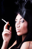 Portrait of elegant smoking woman Stock Photo