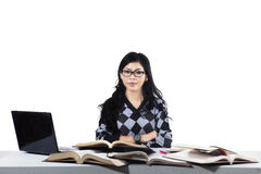Portrait of elegant student in class 2 Royalty Free Stock Images