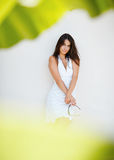 Portrait of elegant woman. Against white background Royalty Free Stock Photography