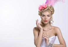 Portrait of the elegant woman Stock Photos