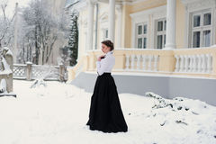 Portrait of elegant woman outdoor Royalty Free Stock Image