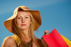 Portrait of elegant woman with shopping bags Royalty Free Stock Photography