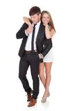 Portrait of elegant young couple Royalty Free Stock Photos