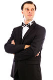 Portrait of an elegant young fashion man with arms folded Royalty Free Stock Photo