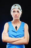 Portrait of an elegant young sporty woman beauty Royalty Free Stock Photo