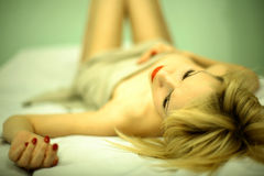 Portrait elegant young woman Stock Photography