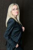 Portrait of elegantly dressed young gorgeous blond business woma Royalty Free Stock Images