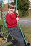 Portrait Of Elementary School Pupils On Climbing Equipment Royalty Free Stock Images