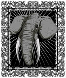 Elephant. Portrait of an elephant vector format royalty free illustration