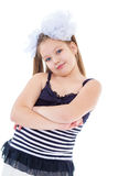 Portrait of a emotional beautiful little girl. Stock Images