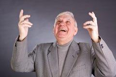 Portrait emotional elderly men Royalty Free Stock Images