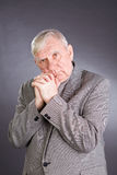 Portrait emotional elderly men royalty free stock photos