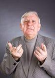 Portrait emotional elderly men Royalty Free Stock Photography