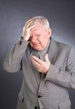 Portrait emotional elderly men Royalty Free Stock Photos